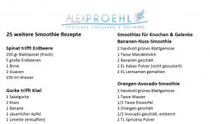 25 Smoothie Rezepte