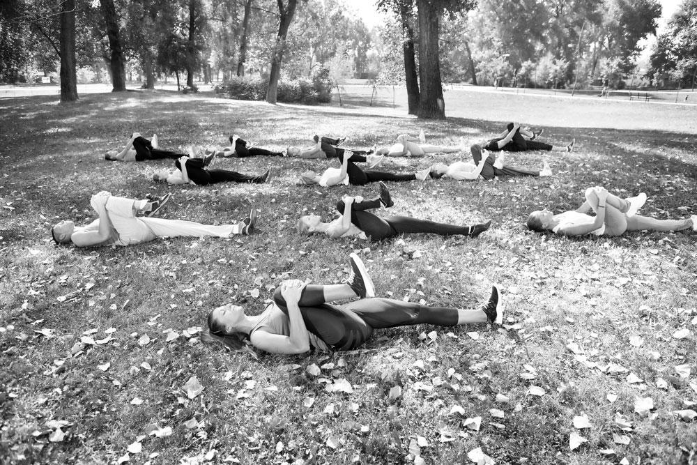 Ganzkörper-Workout unter freiem Himmel